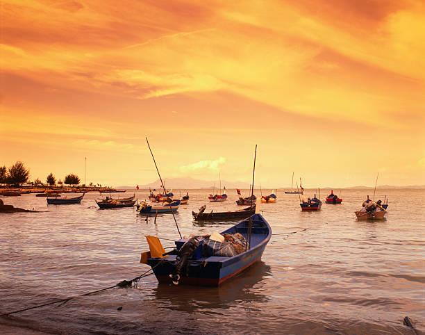 Fishing boats at Tanjong Bunga, Malaysia
