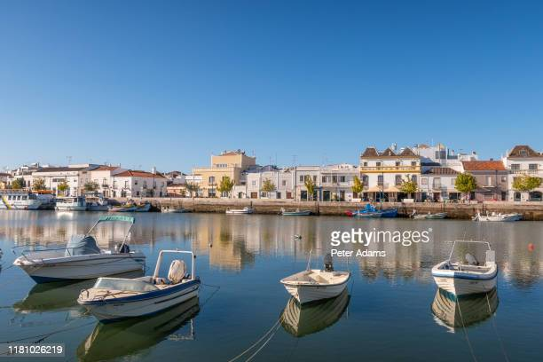 tavira, portugal - april 2019: fishing boats at tavira; eastern algave; portugal - peter adams stock pictures, royalty-free photos & images