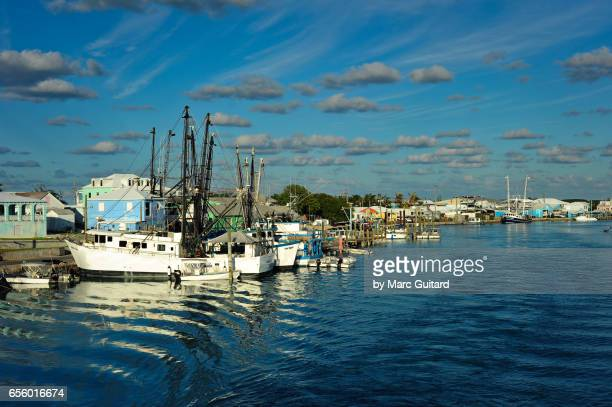Fishing boats, Harbour Island, Eleuthera, Bahamas