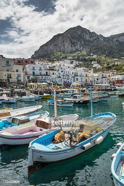 Fishing boats in a mediterranean port