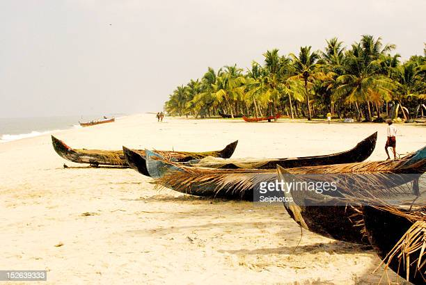 Fishing boats in Allepey Kerala