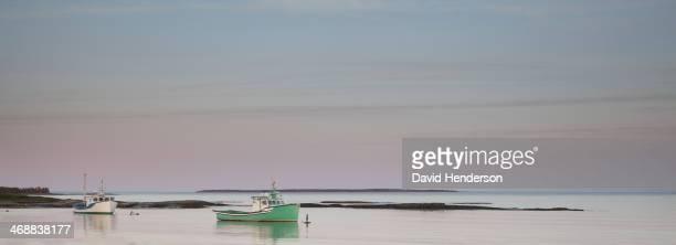 Fishing boats in calm bay