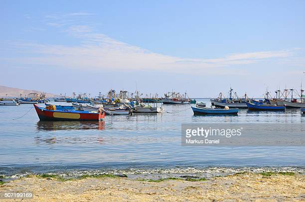 "fishing boats in paracas, peru - ""markus daniel"" stock pictures, royalty-free photos & images"