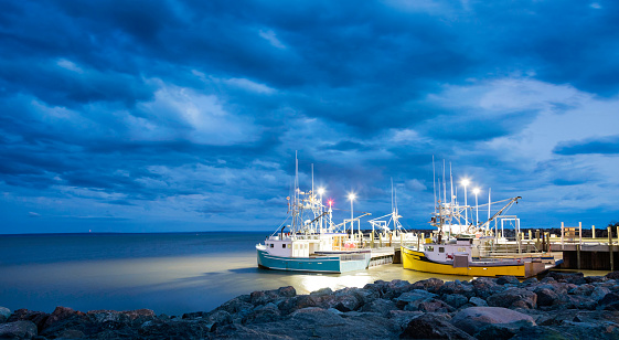 Fishing boats in the Bay of Fundy 999763490