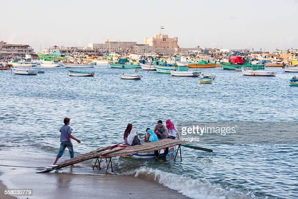 Fishing Boats In The Eastern Harbor Alexandria Al Iskandariyah Egypt