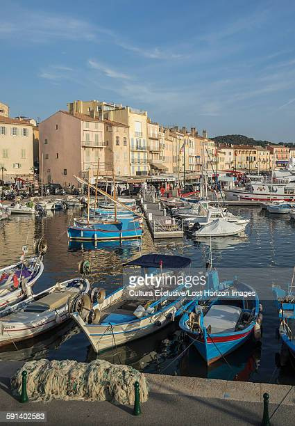 Fishing boats in the port of St Tropez, Provence, France