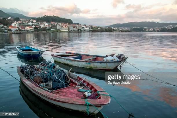 Fishing boats in village of Combarro