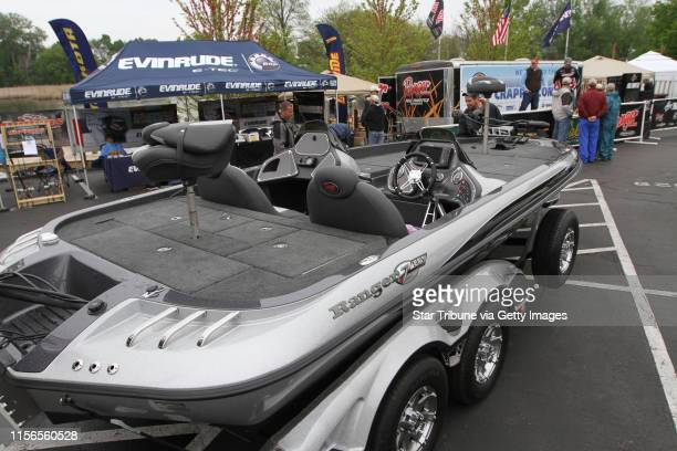 Fishing boats motors and fishing gear were on display during the Minnesota Bound's Crappie Contest on Lake Minnetonka Under sponsorship by Ron...