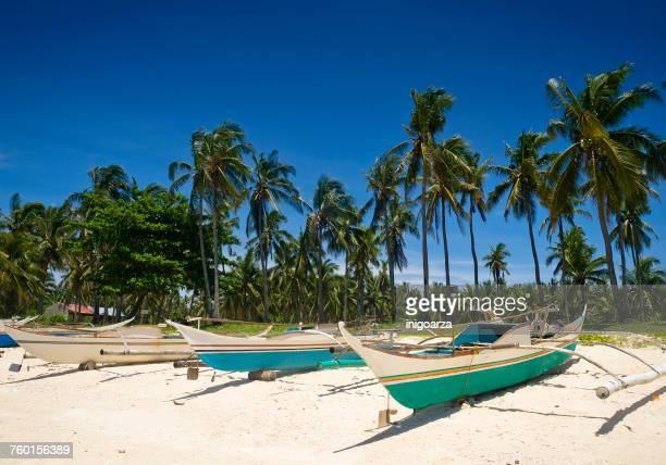 Fishing boats on beach, Guimbatayan, Cebu Island, Philippines