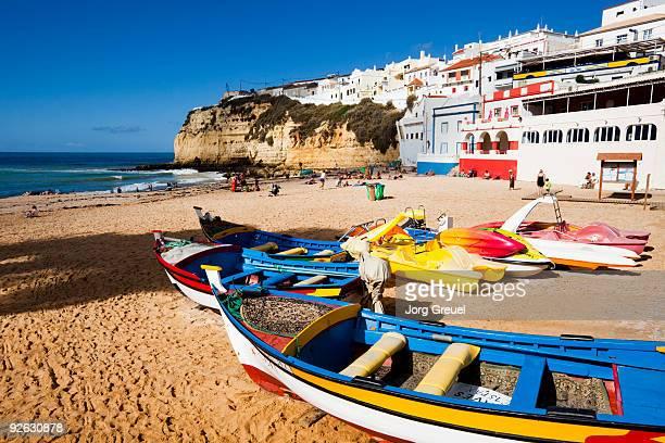 Fishing boats on Carvoeiro beach