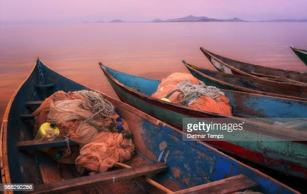 Fishing boats on Lake Victoria, Kenya