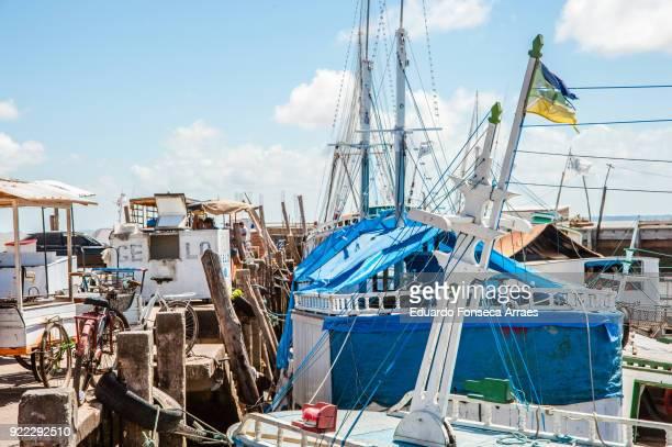 fishing boats on the amazon river - amapá state ストックフォトと画像