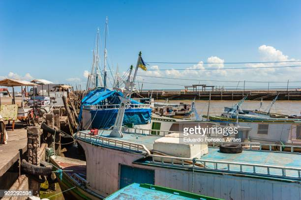 fishing boats on the amazon river - amapá state stock pictures, royalty-free photos & images