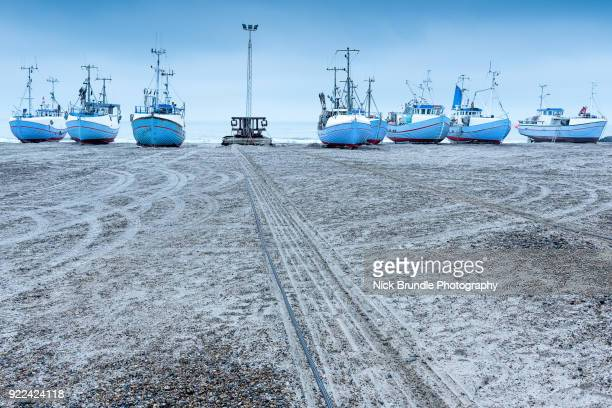 Fishing boats on the beach,Thorupstrand, Northern Jutland, Denmark