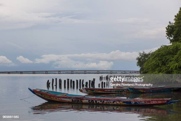 Fishing Boats on the River in Senegal