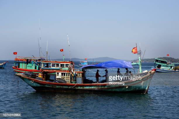 Fishing boats operate during a tour hosted by Red Boat Fish Sauce off the island of Phu Quoc Vietnam on Thursday Nov 1 2018 Gourmands are making...