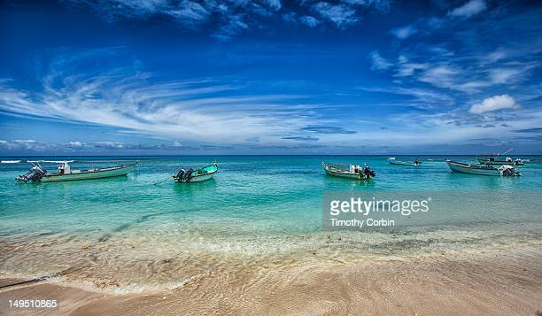 fishing boats - trinidad and tobago stock pictures, royalty-free photos & images