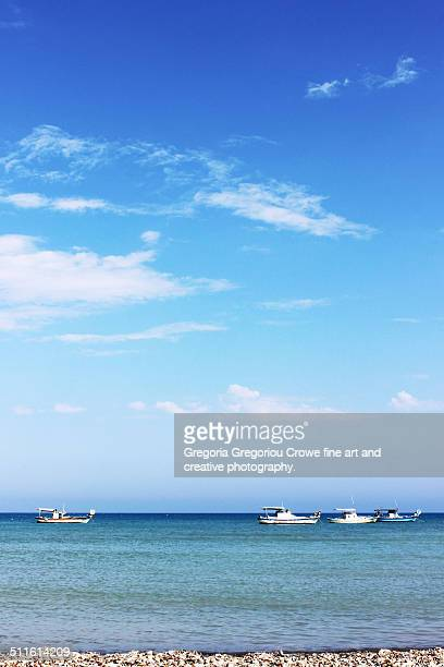 fishing boats - gregoria gregoriou crowe fine art and creative photography stockfoto's en -beelden