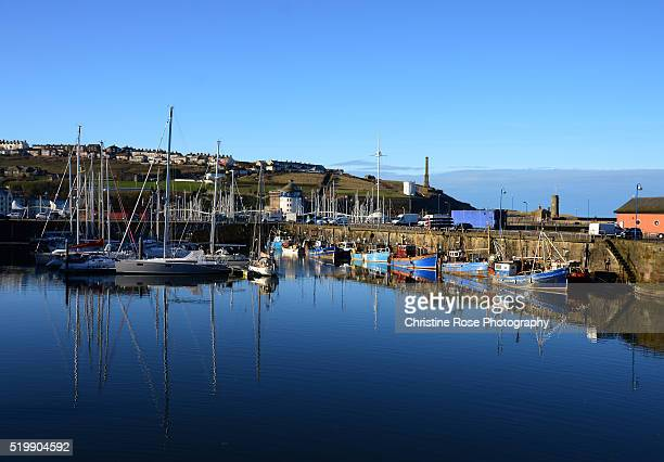 fishing boats - whitehaven cumbria stock pictures, royalty-free photos & images