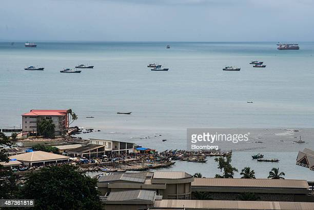 Fishing boats sit on the waterway in Conakry Guinea on Saturday Sept 5 2015 While Guinea produces bauxite which is refined into aluminum and has vast...