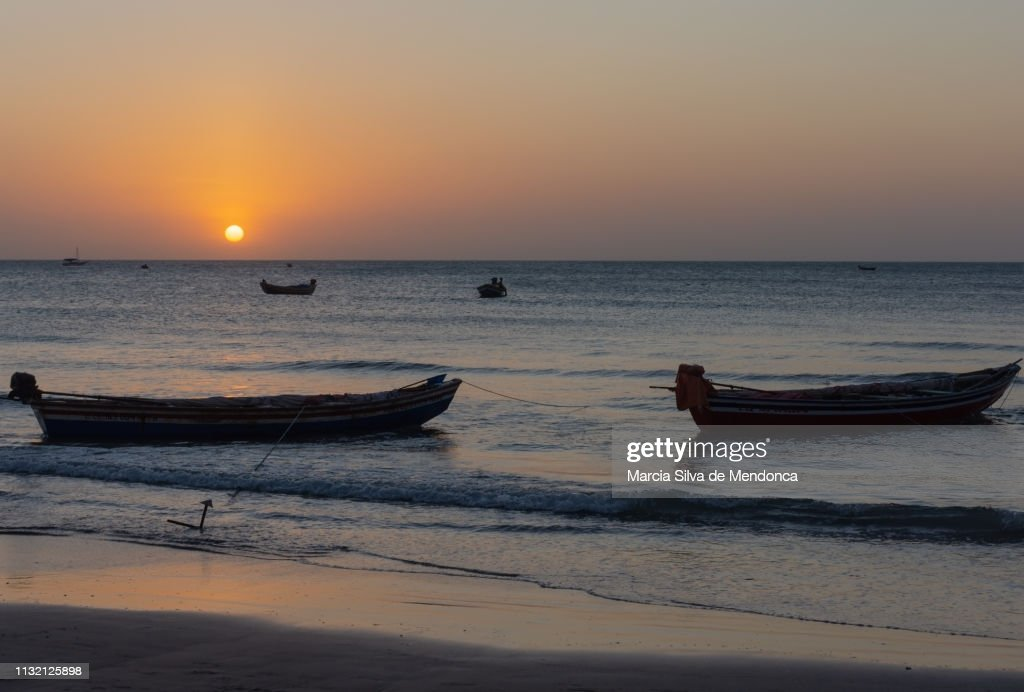 Fishing Boats Stuck In The Sand On The Edge Of Jericoacoara