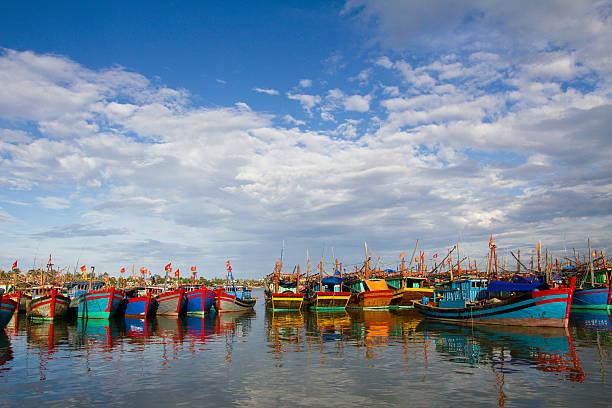 Fishing boats, Vietnam, Dong Hoi.