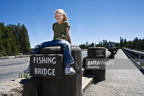 fishing bridge yellowstone national park. - yellowstone river stock photos and pictures