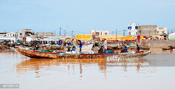 Fishing canoes in the Senegal river