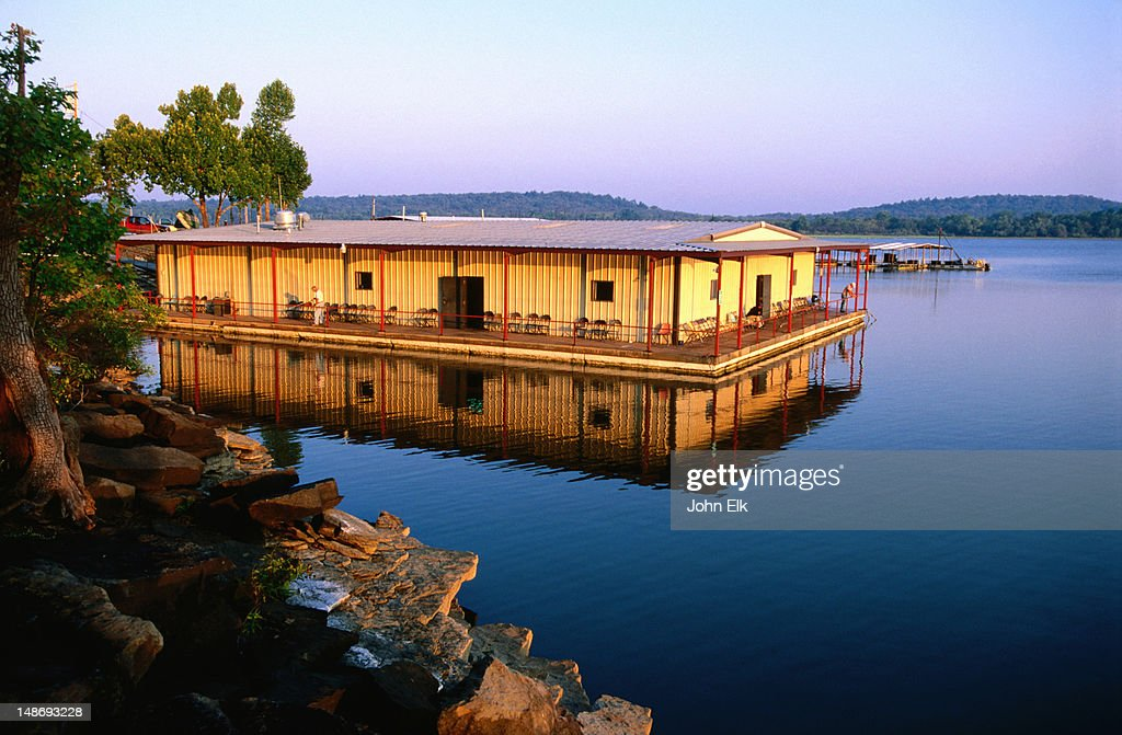 Fishing Dock At Fountainhead Marina Lake Eufaula State Park Stock