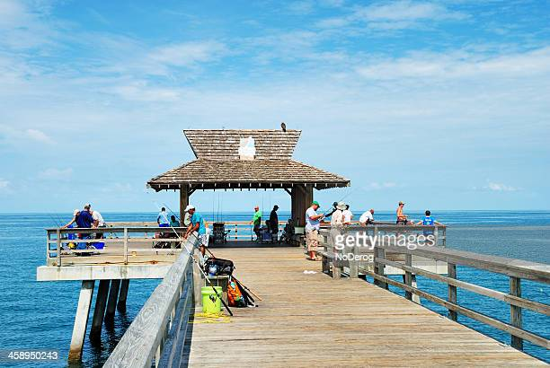 Fishing from Naples pier in southwest Florida