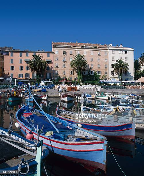 fishing harbour, ajaccio, corsica, france - ajaccio stock photos and pictures