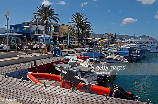 Fishing harbour of Lakki , Fish restaurants, Republic of Cyprus