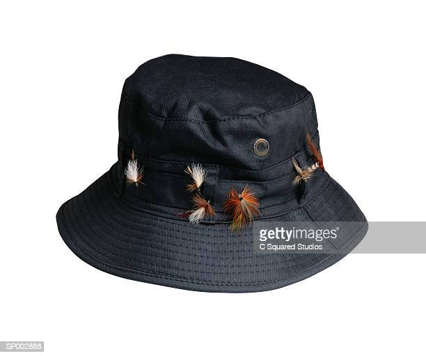 fishing hat - white hat fashion item stock photos and pictures