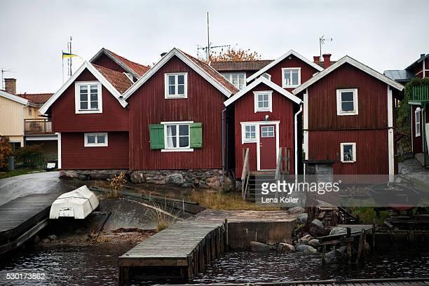 Fishing huts on Swedish East coast