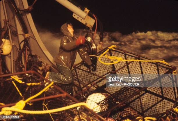 Fishing in Alaska in United States Storm king crab fishing boat Bering Sea