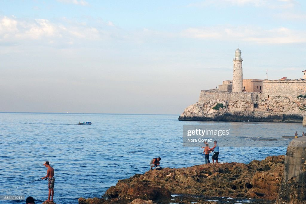Fishing in Havana : Stock Photo