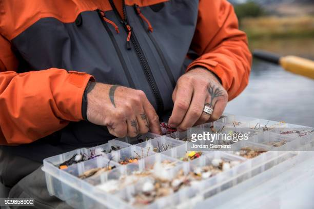 fishing in montana - fishing tackle stock pictures, royalty-free photos & images