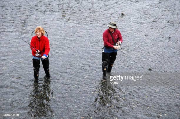 Pesca en arroyo de la nave, Alaska