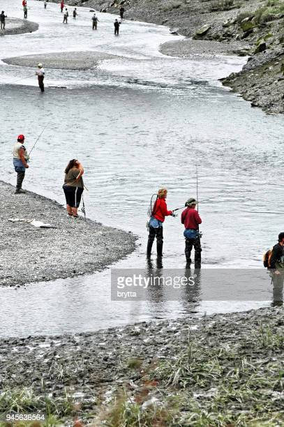 Fishing in Ship Creek,Alaska