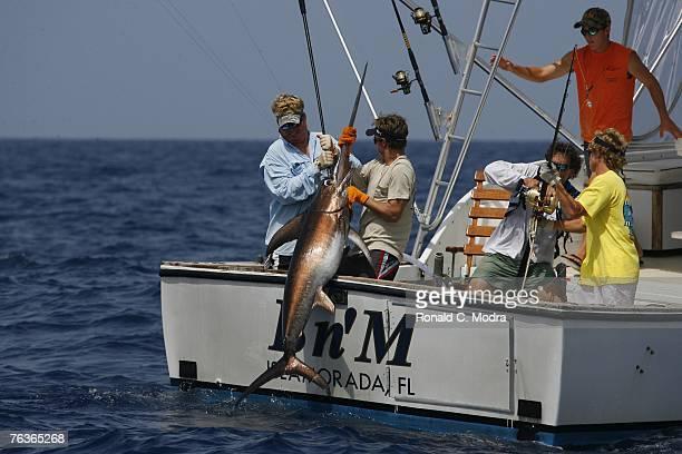 Fishing in the Florida Keys for swordfish on June 18 2007 in Islamorada Florida