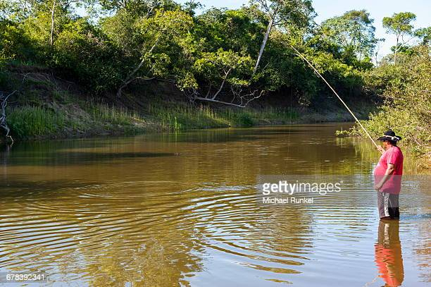 Fishing in the Pantanal, UNESCO World Heritage Site, Brazil, South America