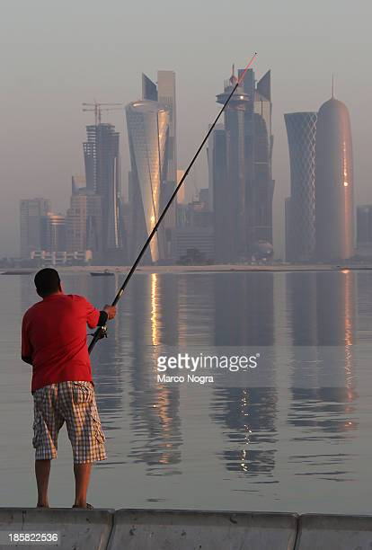 Fishing is one of a typical Weekend Past time of a citizens of Doha Qatar.