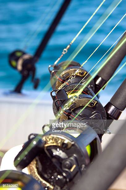 fishing lines - big game fishing stock photos and pictures