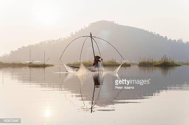 Fishing, Loktak Lake, near Imphal, Manipur, India
