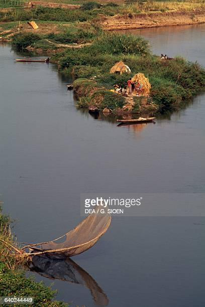 Fishing net on Benue River Garoua Cameroon