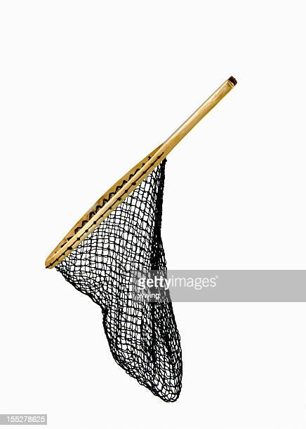 Fishing Net On White  ... Side View Slanted