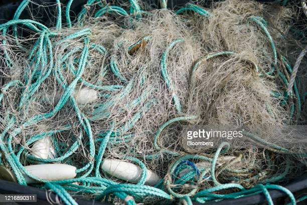 Fishing nets are stored in a container on the quayside of the harbour in Scarborough UK on Tuesday June 2 2020 The threat of a nodeal Brexit is back...