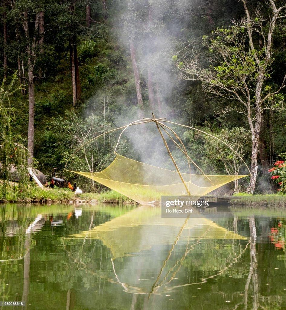 Fishing nets at Dalat : Stock Photo