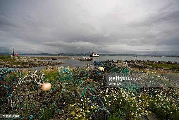 Fishing nets on the shore
