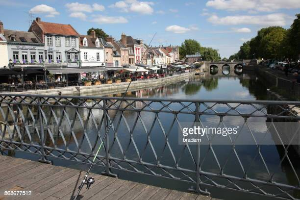 Fishing on the bridge in Amiens